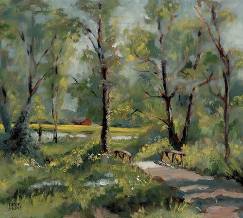 DSS - Painting - A Quiet Place - 12x16 - Oil