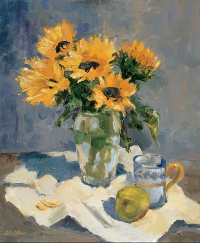 Morning Sunflowers - 20x24 - oil