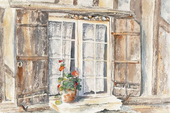 OLearys Window - 15x22 - watercolor