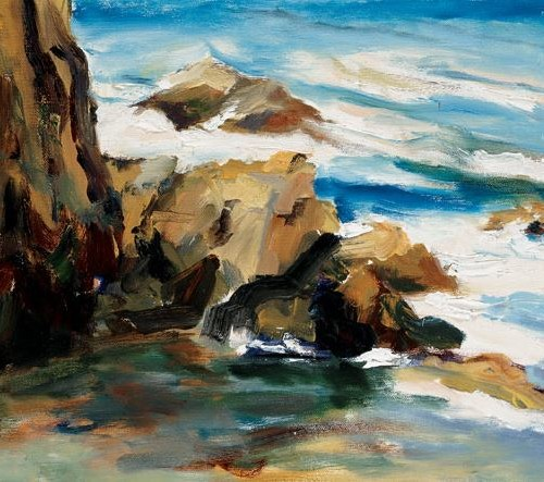 Pacific Cove - 12x12 - oil