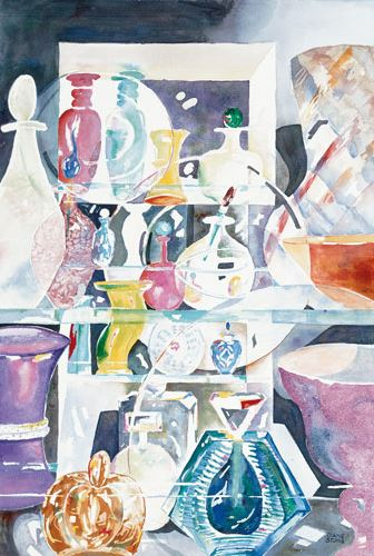 Perfume Bottles - 16x20 - watercolor