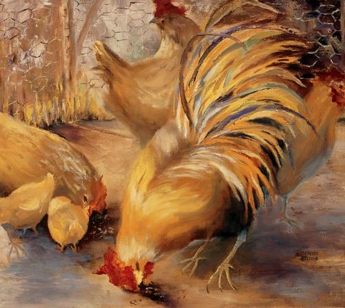 The Chicken Yard - 16x20 - oil