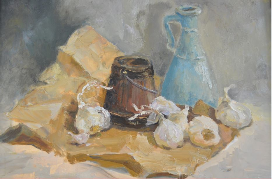 DSS - Blue Vase and Garlic